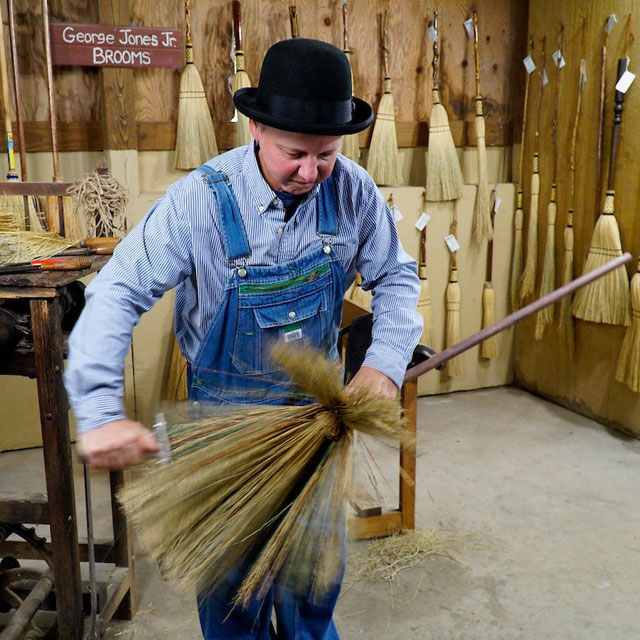 Florence: hand-crafted brooms by George Jones Jr.